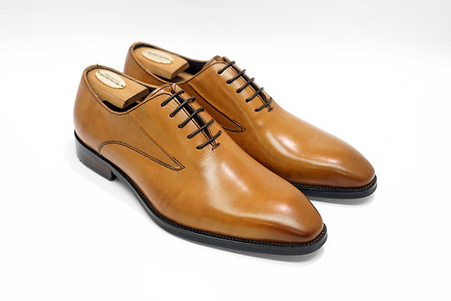 Brown Calf Leather Wholecut Oxford T04