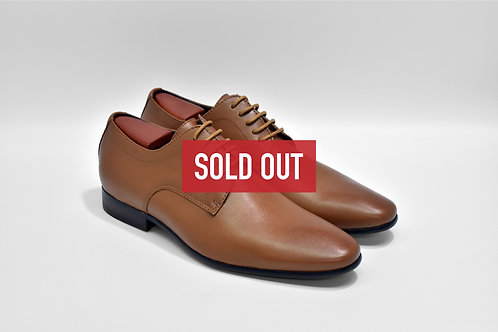 Brown Soft Leather Plain-toe Derby