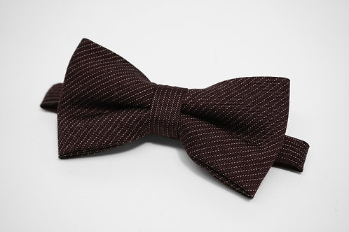 Dark Red Dot Stripe Bow Tie