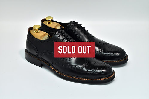 Black Calf Leather Brogue Oxford