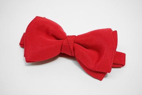 Red Double Fold Bow Tie