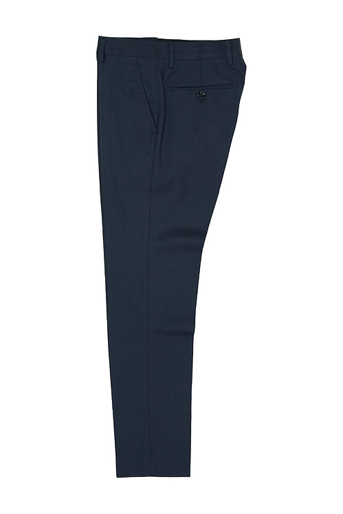 Navy Pin Stripe Trousers T511