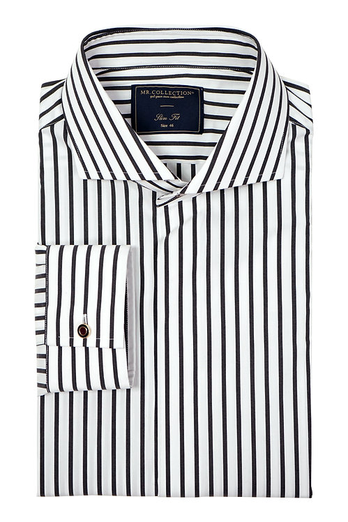 MTO Black&White Candy Stripe Shirt