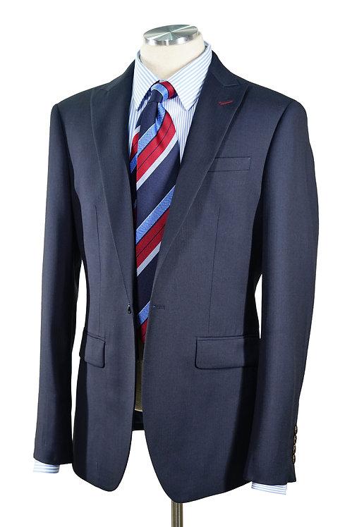 Navy Herringbone Jacket T605
