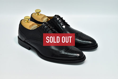Black Calf Leather Brogue Derby