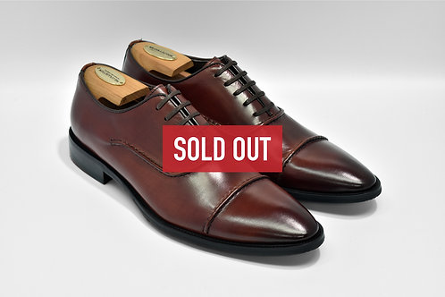 Maroon Calf Leather Cap-toe Oxford