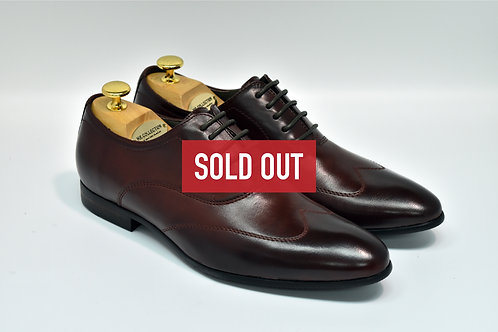 Maroon Soft Leather Wingtip Oxford