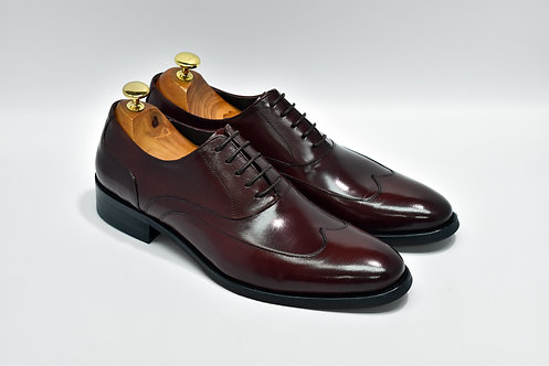 Maroon Calf Leather Wingtip Oxford P03