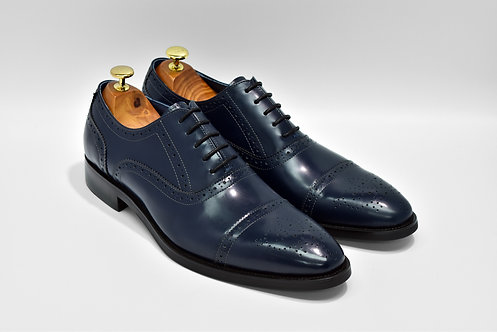 Navy Solovair Leather Cap-toe Oxford MB32