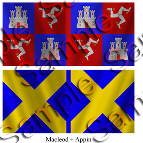 MacLeod – 1 flag: Appin – 1 flag
