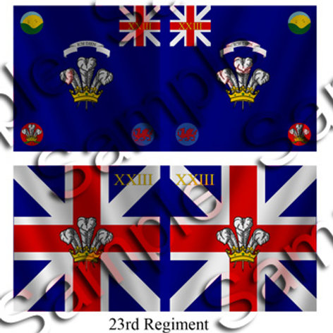 23rd Regiment- King's and Battalion colours