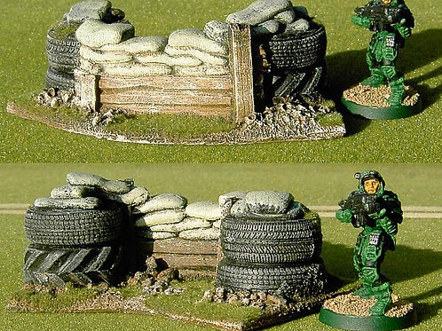28mm Tyre and Wood Barricade