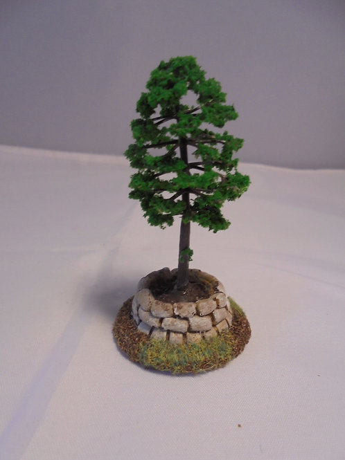 O Gauge Decorative Planter with Tree