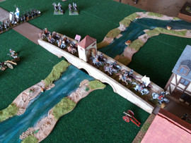 Government Cavalry & Dragoons crossing the bridge