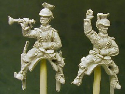 Uhlan Command, Officer and Trumpeter
