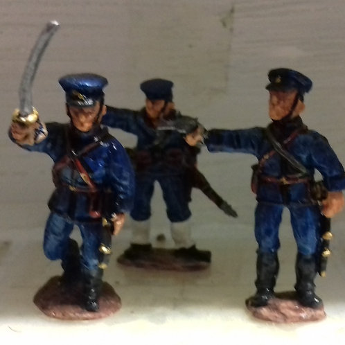 Marine Command. 2 Officers, Bugler