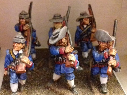 Commanded Musketeers, Advancing