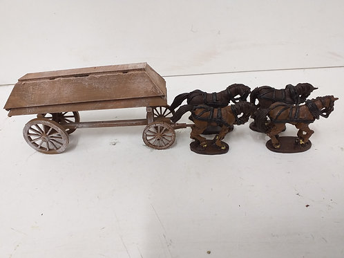 Pontoon Wagon with 2 Pontoons and 4 Horses