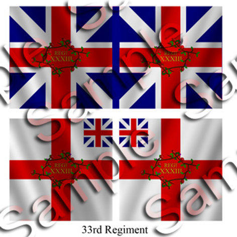 33rd Regiment- King's and Battalion colours