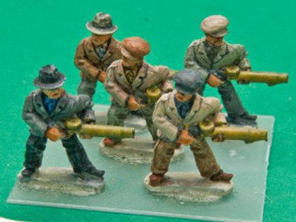 Civilians with Lewis Guns