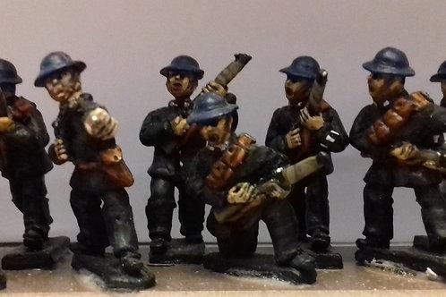 Police in Steel Helmets