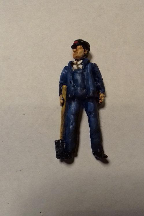 O Gauge Steam Fireman with shovel