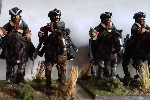 Dragoons in Tricorn, Charging