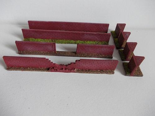 28mm Brick Wall Set