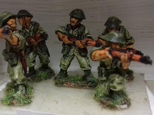 Infantry with No4 Rifle in Steel Helmet