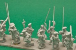 Scots Pikemen in Bonnet, Marching