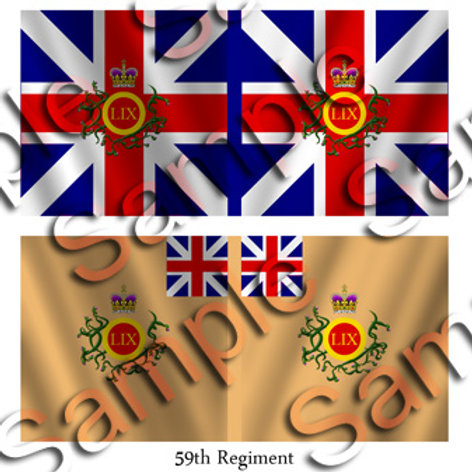 59th Regiment- King's and Battalion colours