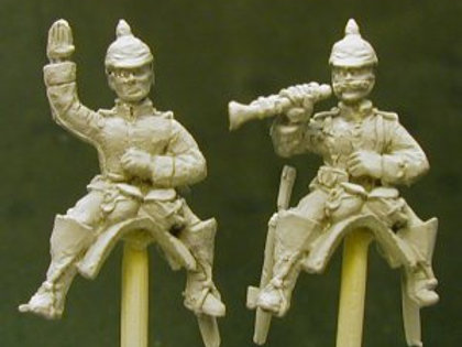 Cuirassier Command, Officer and Trumpeter