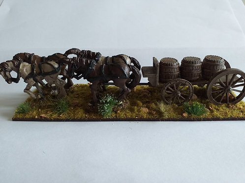 4 Horse Barrel Wagon
