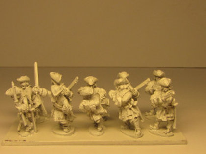 Dismounted Dragoons with Command