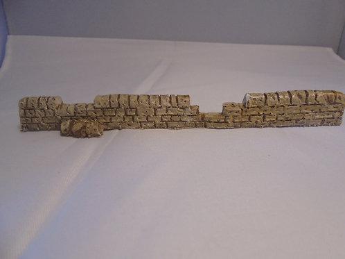 OO Gauge Stone Wall Broken Straight
