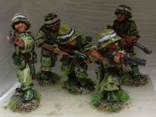 Infantry with SLR in Bush Hat