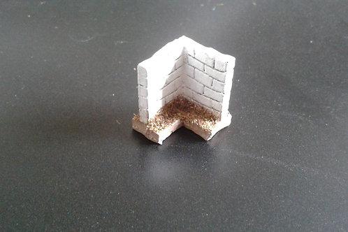 28mm Stone Wall Corner