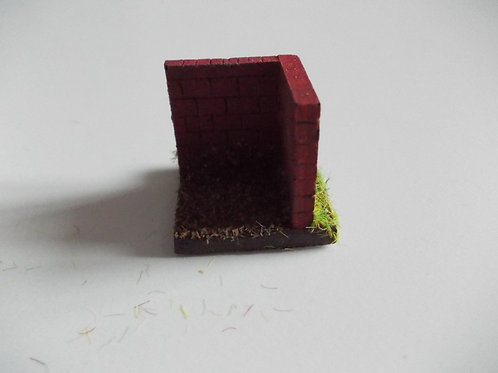 28mm Brick Wall Corner