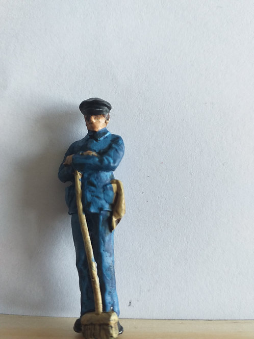 Steam Crew Man with Brush