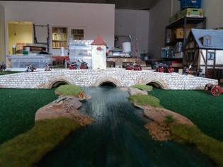 Scots Guards crossing the bridge