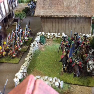 Grenadiers rushing to support Saxon barricade