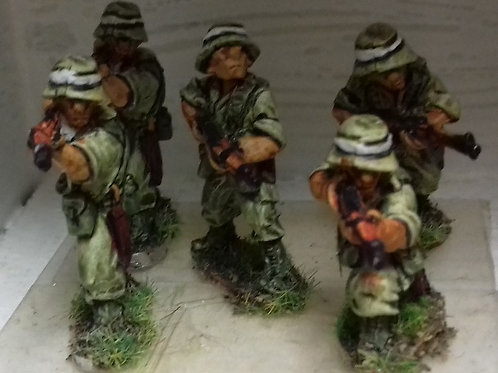 Infantry with No4 Rifle in Bush Hat