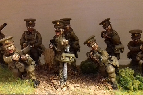 Infantry skirmishing in Service Cap with Officer