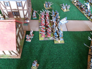 Scots Guards line up with the Covenanters