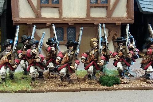 Musketeers, Flintlock, Soft Hat, Advancing