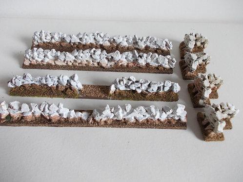 28mm Dry Stone Wall Set