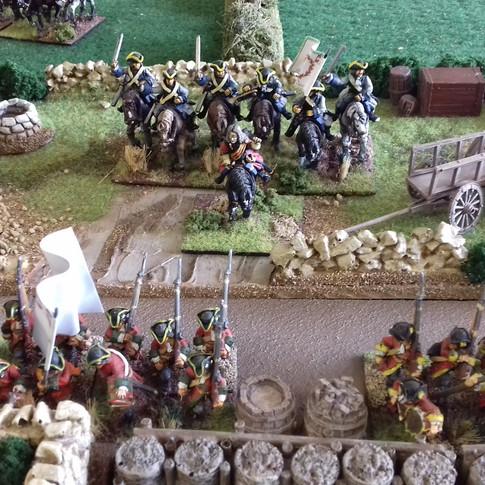 Fredrik IV views his troops