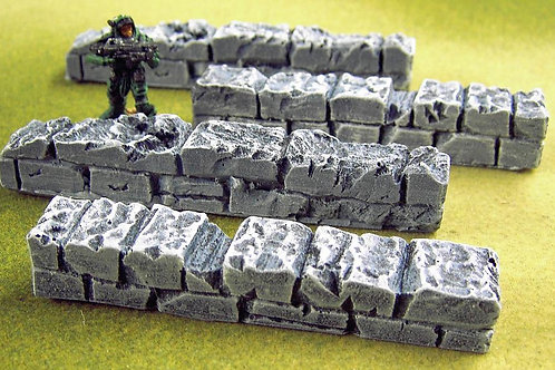 28mm Chunky Stone Wall Set - Straights