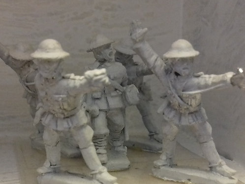 Dismounted Cavalry Command in Steel Helmets