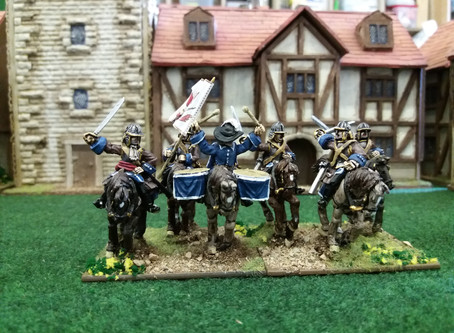 Latest painted examples of new Scanian War range - Brandenburg-Prussian Cuirassiers. Coming soon